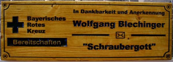Holzschild - BRK Bamberg