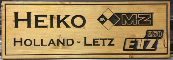 Holzschild - ifa - MZ ETZ 250