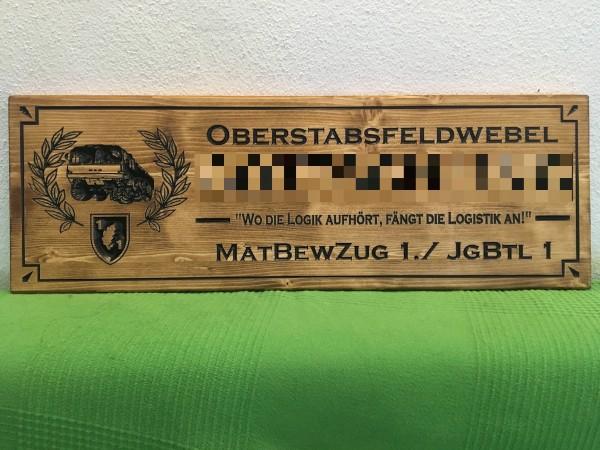 Holzschild - Militär