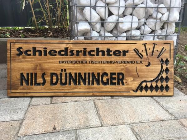 Holzschild - Vereine & Organisationen