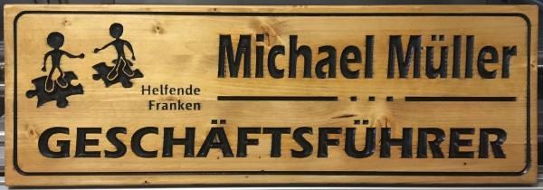 "Holzschild - ""Helfende Franken"""