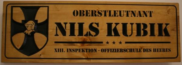 Holzschild - Offizierschule des Heeres