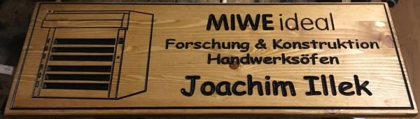 Holzschild -- MIWE