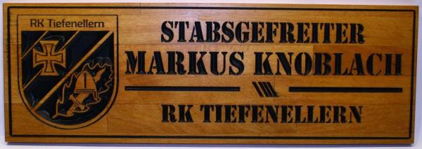 Holzschild - RK Tiefenellern