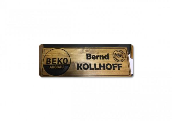 Holzschild - BEKO Ausbau
