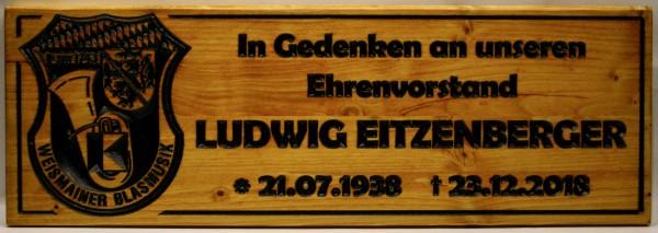 Holzschild -- Blasmusik Weismain