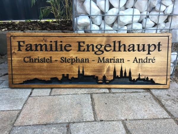 Holzschild - Familie Engelhaupt